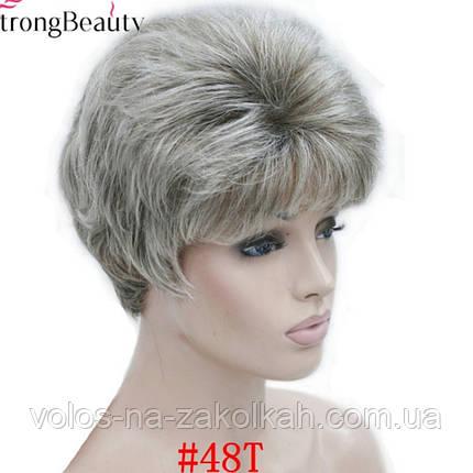 Парик короткая стрижка пепельный блонд 1123#5, фото 2