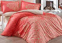 Комплект постельного белья Hobby 4718 Евро, поплин (100% хлопок) SA-4718