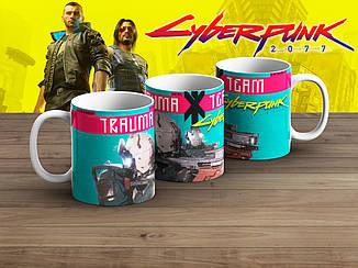"""Чашка Киберпанк 2077 """"Trauma Team""""/ Cyberpunk 2077"""