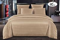 Постельное белье страйп сатин евро размер 200х230 см   Комплект постельного белья   Постільна білизна євро