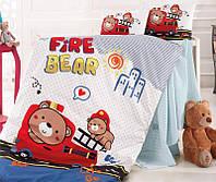 Комплект детского постельного белья Nazenin Fire Bear в кроватку, хлопок SA-5745