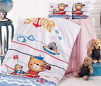 Комплект детского постельного белья Nazenin Sailor в кроватку, хлопок SA-5751