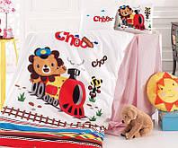 Комплект детского постельного белья Nazenin Train в кроватку, хлопок SA-5754