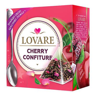 Чай LOVARE Вишнёвый конфитюр ( фруктовый ) 15 шт пирамидок + ложка в подарок