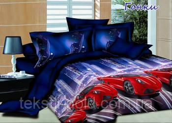 Подростковый постельный комплект Гонки ТМ TAG ранфорс 1,5-спальный