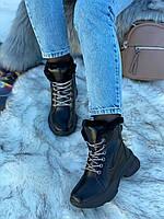 Ботинки женские зимние 6 пар в ящике черного цвета 36-40, фото 3