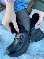 Ботинки женские зимние 6 пар в ящике черного цвета 36-40, фото 5