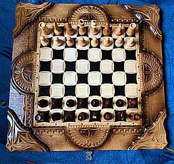 """Шахматы-нарды-шашки """" Тигр """" резные, фото 3"""