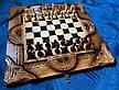 """Шахматы-нарды-шашки """" Тигр """" резные, фото 2"""