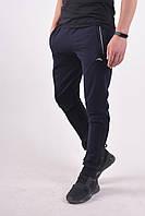 Размеры: 46-54. Мужские спортивные штаны на манжете ST-BRAND / Трикотаж двунитка - темно-синие