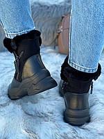 Ботинки женские зимние 6 пар в ящике черного цвета 36-40, фото 4