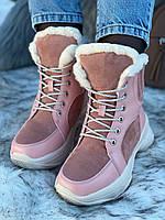 Ботинки женские зимние 6 пар в ящике розового цвета 36-40, фото 4