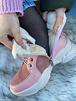 Ботинки женские зимние 6 пар в ящике розового цвета 36-40, фото 7