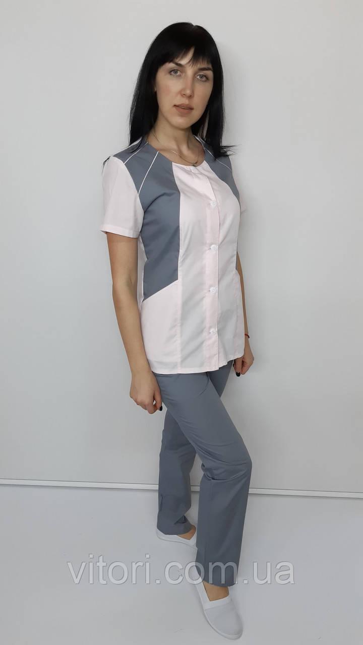 Женский медицинский костюм Лика хлопок короткий рукав