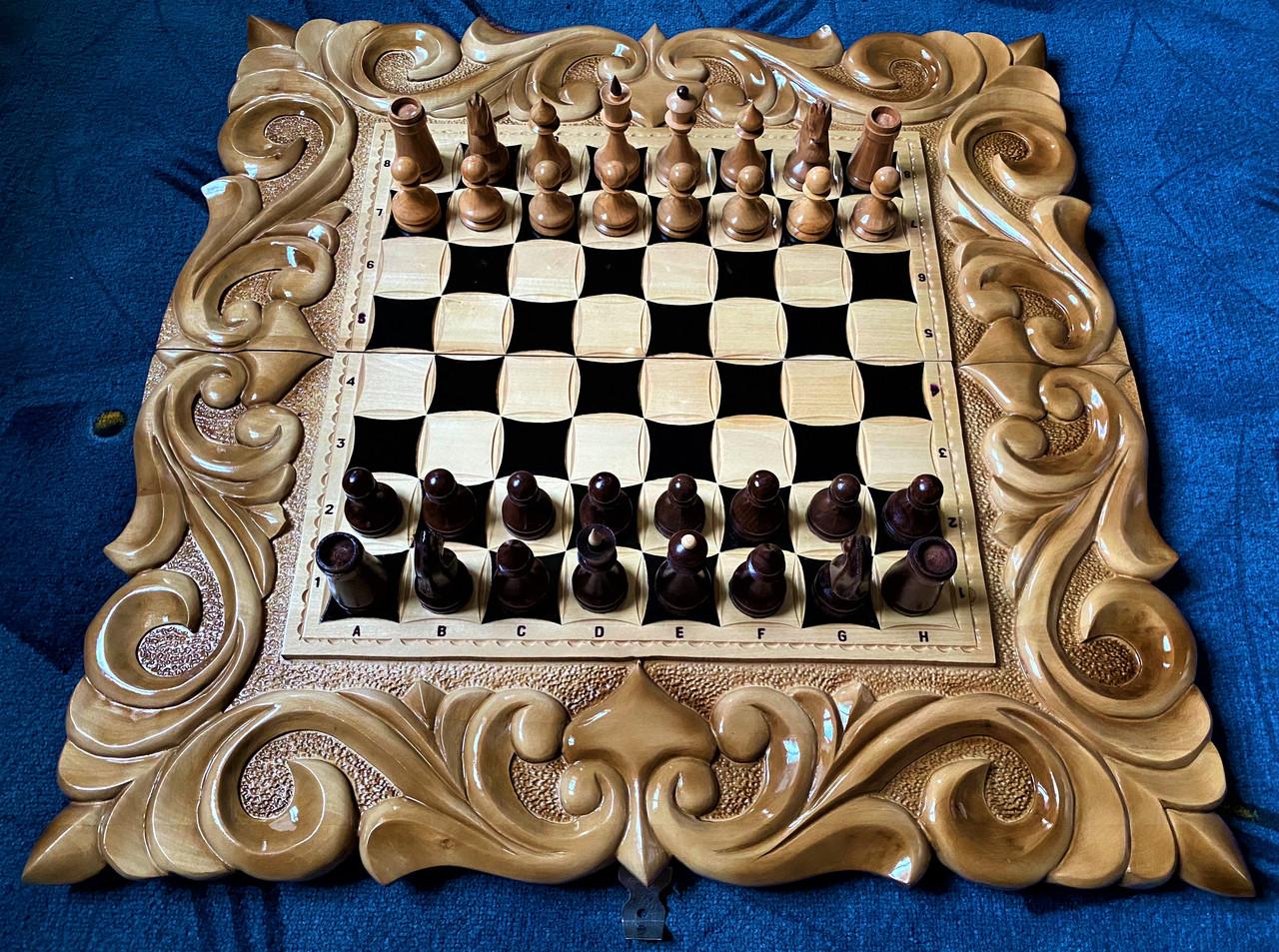 """Шахматы-нарды-шашки 3 в 1 с символом года """" Бык """""""