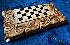 "Шахматы-нарды-шашки 3 в 1 с символом года "" Бык "", фото 3"