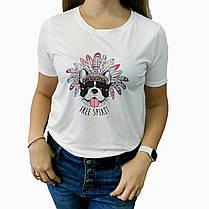 Женская футболка белая с модным рисунком принтом Дональд Дак, Том и Джери, Микки, фото 3