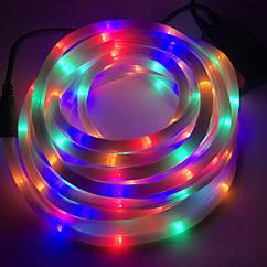 Светодиодная уличная гирлянда шланг Дюрлайт LTL10 метров Мульти Цветной, 180 Ламп, 8 режимов