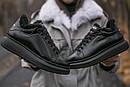 Зимние Кроссовки женские Alexander McQueen all black FUR (зима), фото 3