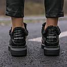 Зимние Кроссовки женские Alexander McQueen all black FUR (зима), фото 8