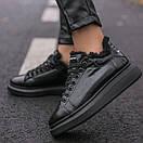 Зимние Кроссовки женские Alexander McQueen all black FUR (зима), фото 9