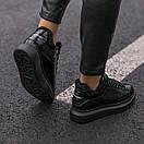 Зимние Кроссовки женские Alexander McQueen all black FUR (зима), фото 6