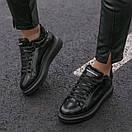 Зимние Кроссовки женские Alexander McQueen all black FUR (зима), фото 7