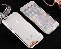 Защитное стекло для iPhone 6 6S Plus перед-зад цветное закаленное Full Screen