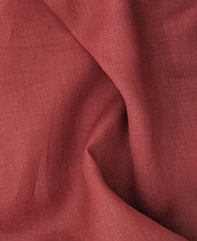 Тканина льон бордо