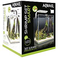 Аквариумный набор Aquael «Shrimp Set Smart» чёрный, прямой (30 л)