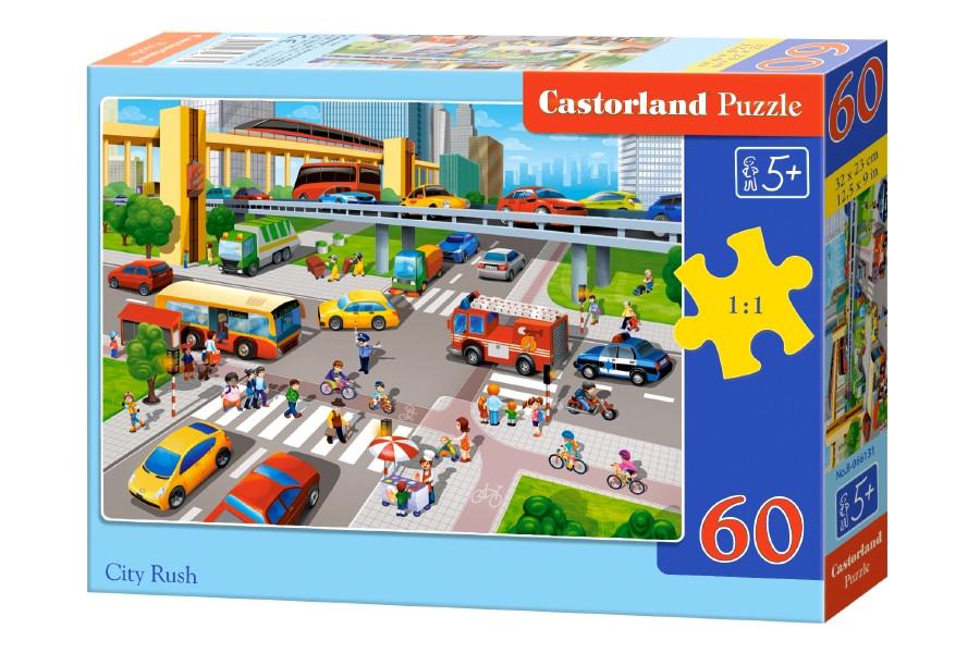 Пазлы Castorland на 60 элементов Городское движение B-066131