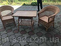 Кофейный комплект плетеной мебели из лозы