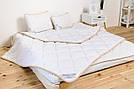 Комплект із Вовни Мериносів Білий Класичний Євро (Ковдра 220х200+Подушка 40х60 2шт.), фото 4