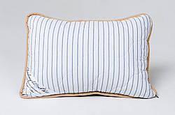 Подушка із вовни мериносів синя в смужку розмір 40х60