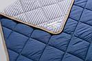 Ковдра з вовни мериносів синя в смужку 200х200, фото 3