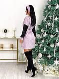 Платье из ангоры с пайеткой 50-624, фото 8