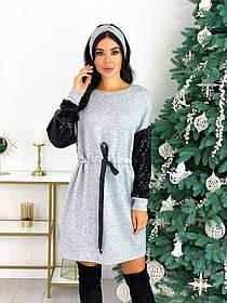 Платье из ангоры с пайеткой 50-624