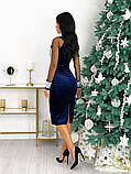 Нарядное бархатное платье с пайеткой 50-627, фото 6