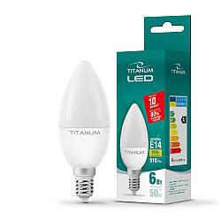 LED лампа TITANUM C37 6W E14 3000K 220V