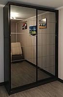 Шкаф купе А-1549 Размер 1500*600*2400мм Корпус венге, профиль венге, зеркало бронза+мат