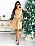 Нарядное комбинированное платье 50-631, фото 5