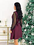 Нарядное комбинированное платье 50-631, фото 7
