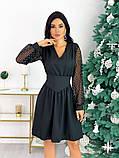 Нарядное комбинированное платье 50-631, фото 3