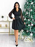 Нарядное комбинированное платье 50-631, фото 6