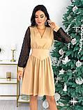 Нарядное комбинированное платье 50-631, фото 2
