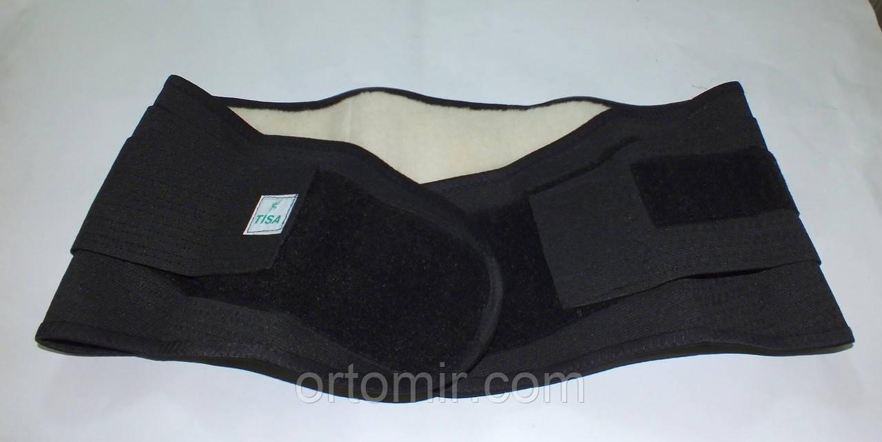 Пояс для спины согревающий на липучке с рёбрами жеткости