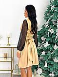 Нарядное комбинированное платье 50-631, фото 8