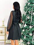 Нарядное комбинированное платье 50-631, фото 9