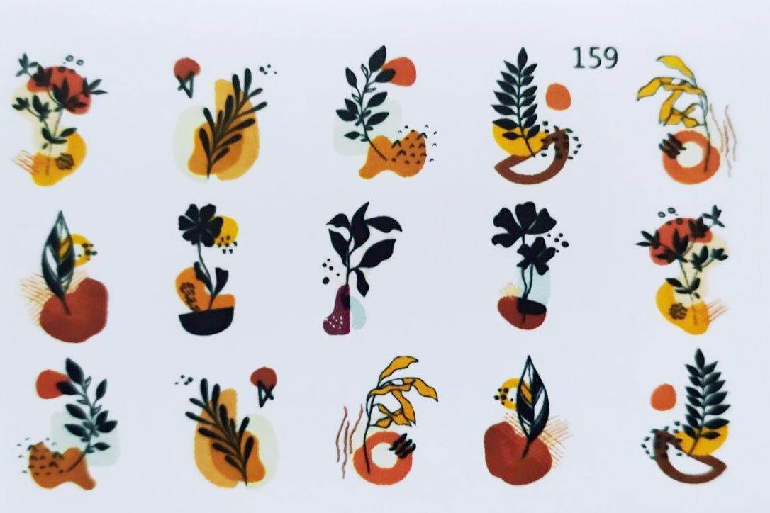 Водные наклейки (слайдер дизайн) для ногтей 159