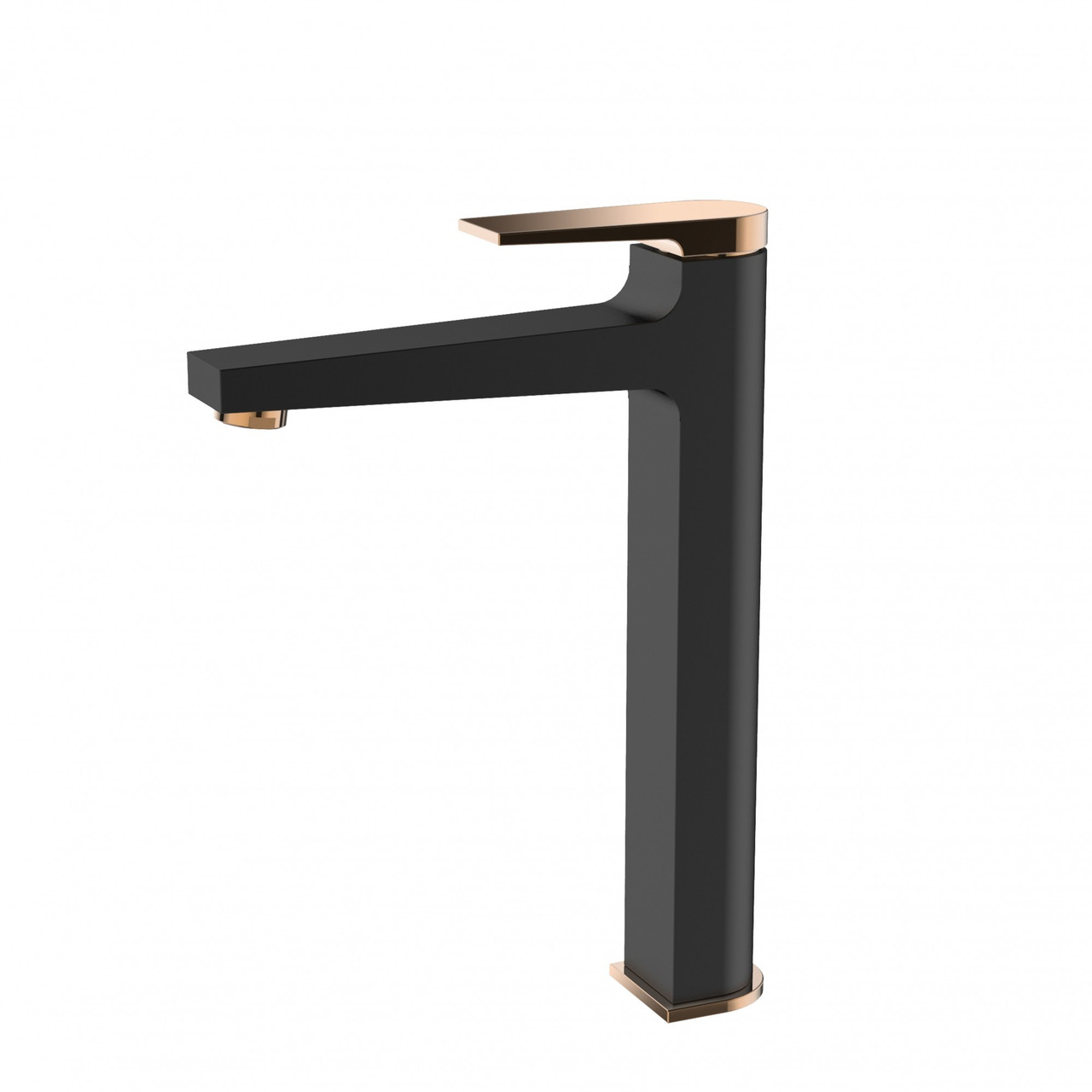 Змішувач для накладної раковини Invena Midnight BU-35-W14 чорний/золотий